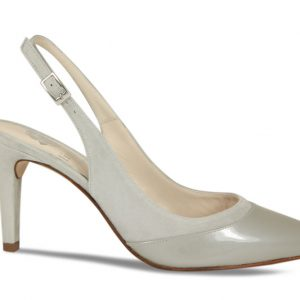 Lisa Kay London Betty Grey Suede Snake Court