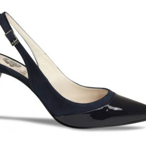 Lisa Kay London Betty Navy Patent Suede